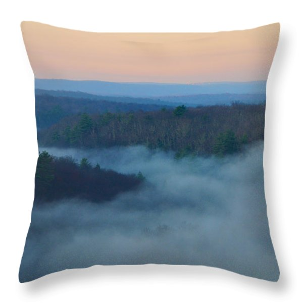 Misty Mountain Hop Throw Pillow by Bill Cannon