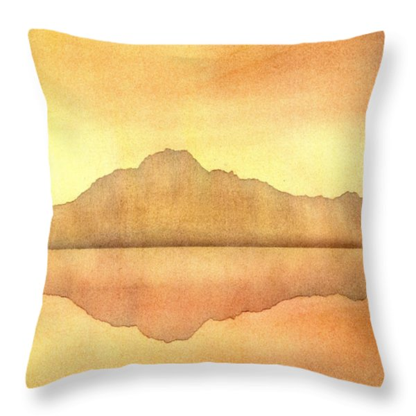 Misty Sunset Throw Pillow by Hakon Soreide