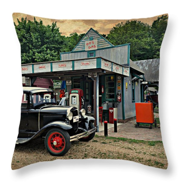 Model A Station Throw Pillow by Marty Koch