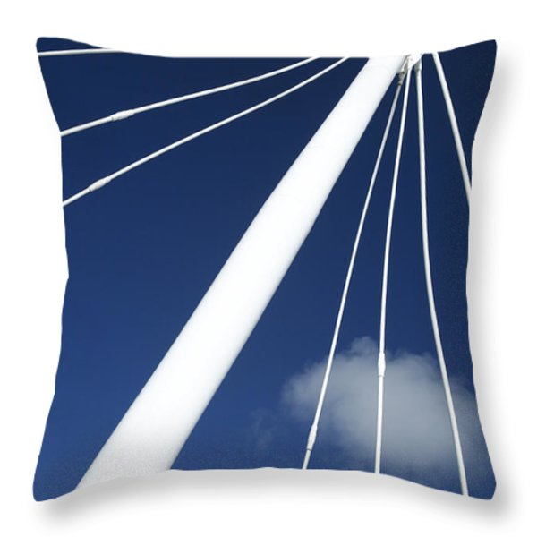 Modern Abstract Structure Throw Pillow by Gaspar Avila