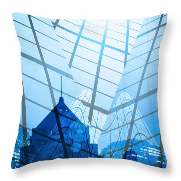 Modern City Throw Pillow by Setsiri Silapasuwanchai