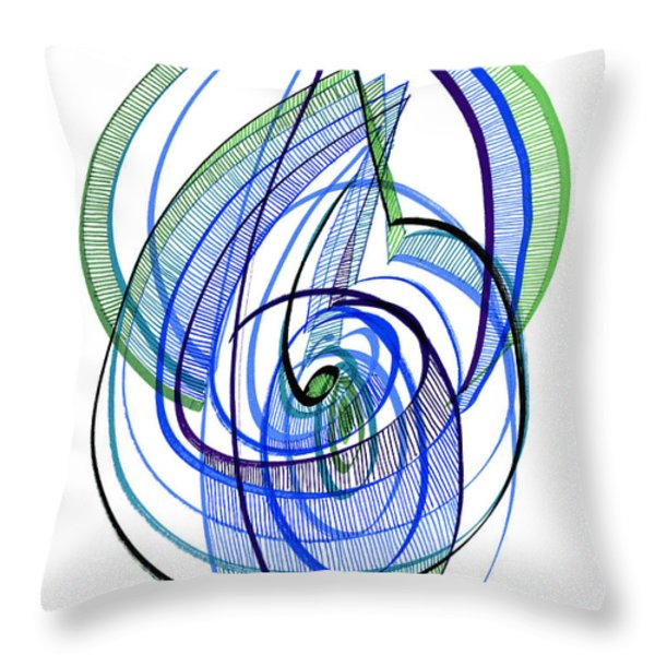 Modern Drawing 120 Throw Pillow by Lynne Taetzsch