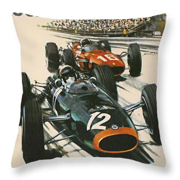 Monaco Grand Prix 1967 Throw Pillow by Nomad Art And  Design
