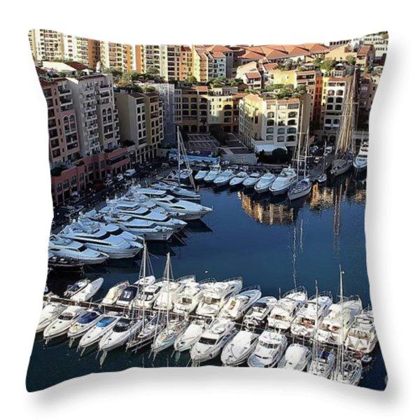 Monaco Throw Pillow by Tom Prendergast