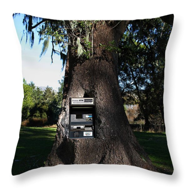 Money Tree . 7d9817 Throw Pillow by Wingsdomain Art and Photography