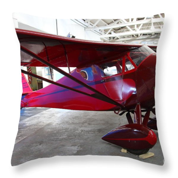 Monocoupe 110 . 7D11144 Throw Pillow by Wingsdomain Art and Photography