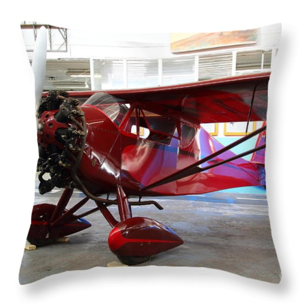 Monocoupe 110 . 7D11149 Throw Pillow by Wingsdomain Art and Photography