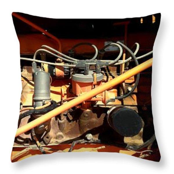 MONSTER MACHINE Throw Pillow by Marlene Burns