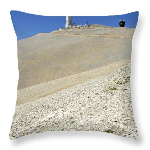 Mont Ventoux.provence Throw Pillow by Bernard Jaubert