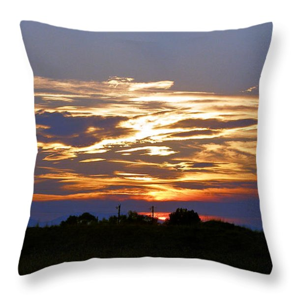 Montana Sunset Throw Pillow by Susan Kinney