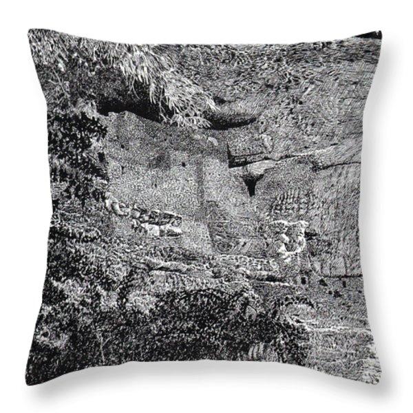 Montezuma Castle  Throw Pillow by Jack Pumphrey