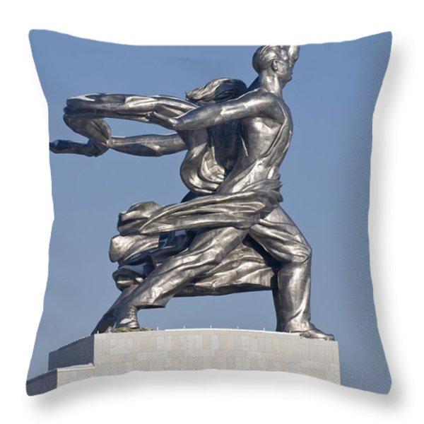 Monument Throw Pillow by Igor Sinitsyn