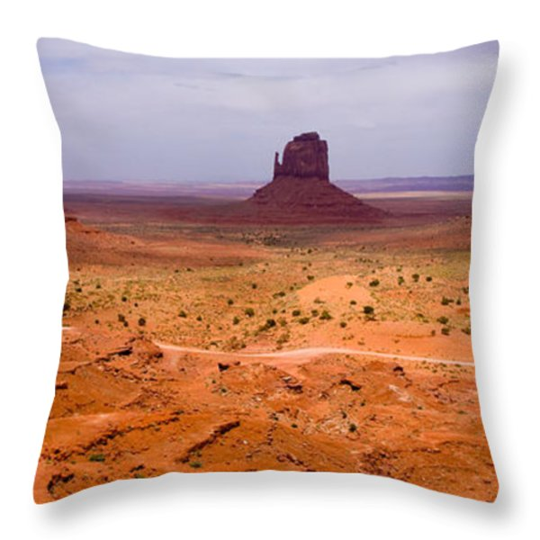 Monument Valley Throw Pillow by Peter Verdnik
