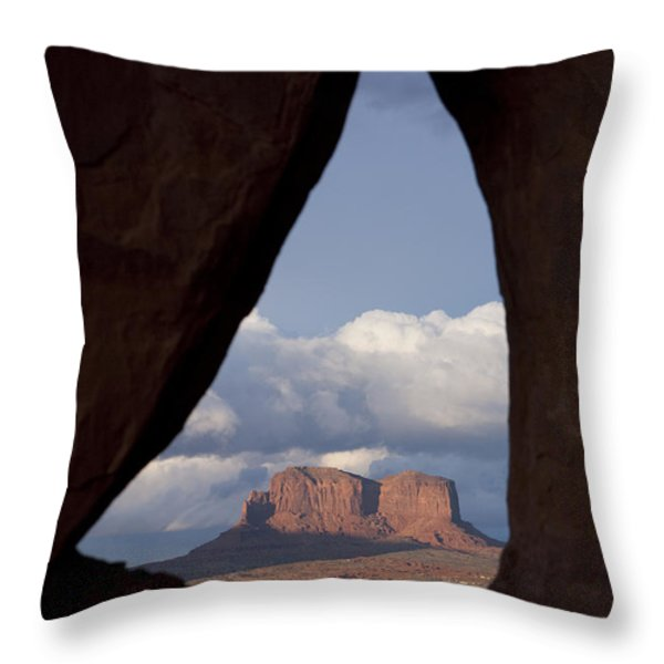 Monument Valley, Usa Throw Pillow by John Burcham