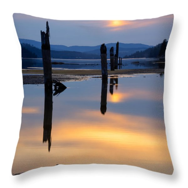 Mood on the Bay Throw Pillow by Idaho Scenic Images Linda Lantzy