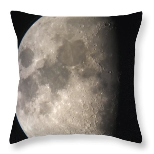 Moon Against The Black Sky Throw Pillow by John Short