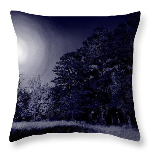 Moon And Dreams Throw Pillow by Nina Fosdick