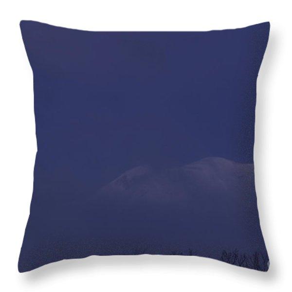 Moon At Dawn Throw Pillow by Yuichi Takasaka