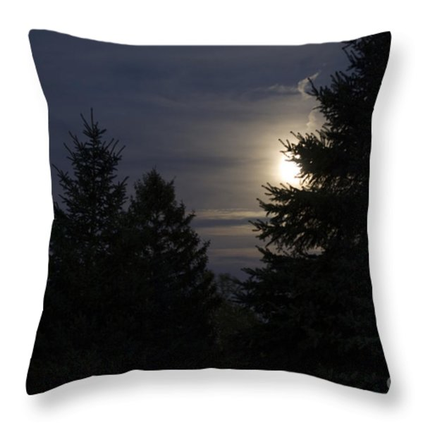 Moon Rising 01 Throw Pillow by Thomas Woolworth
