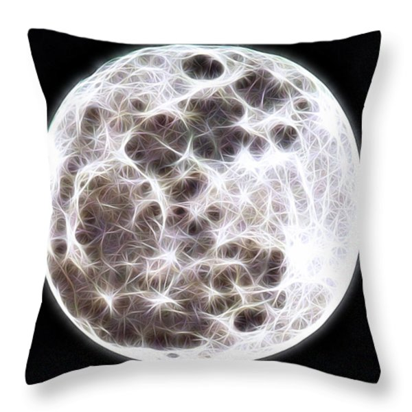 Moon Throw Pillow by Stephen Younts