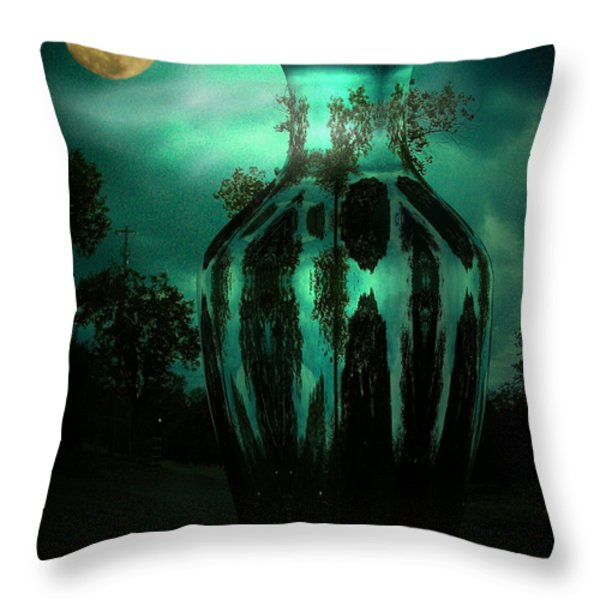 Moonglow Throw Pillow by Joyce Dickens