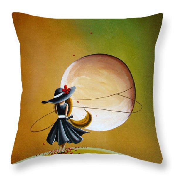 Moonrise Throw Pillow by Cindy Thornton