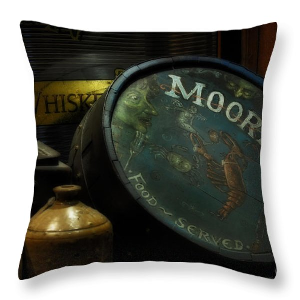 Moore's Tavern After Closing Throw Pillow by Mary Machare