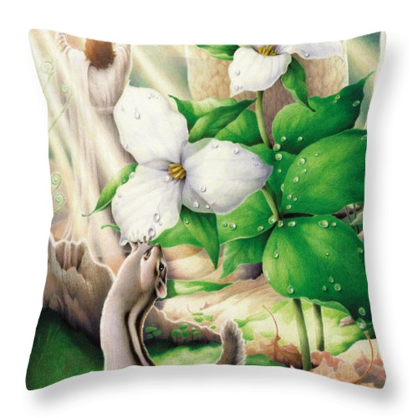 Morning Has Broken Throw Pillow by Amy S Turner