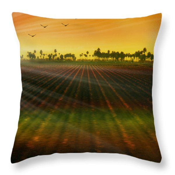 Morning has broken Throw Pillow by Holly Kempe
