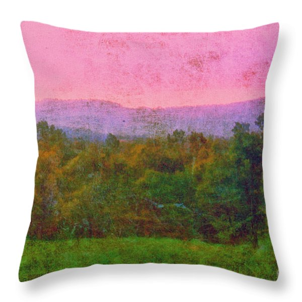 Morning In The Mountains Throw Pillow by Judi Bagwell