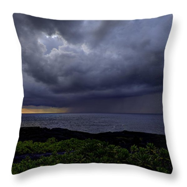Morning Squall Throw Pillow by Mike Herdering