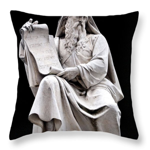 Moses Throw Pillow by Fabrizio Troiani
