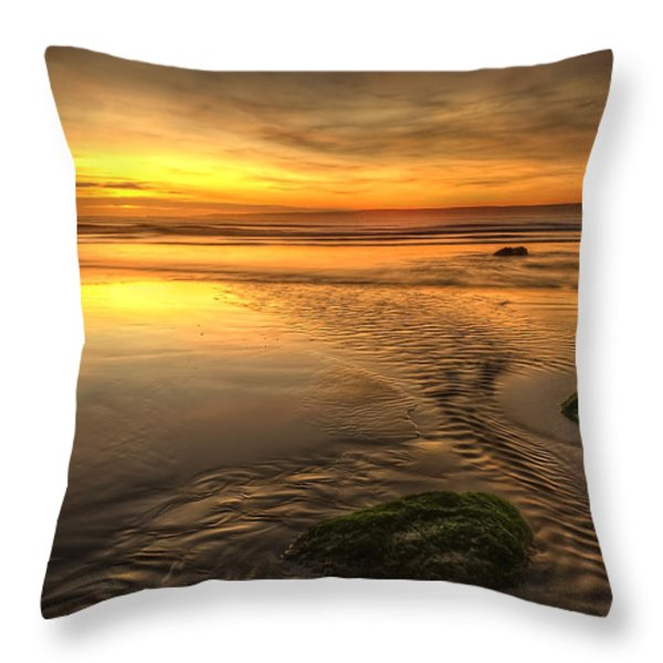 Mossy Rocks Throw Pillow by Svetlana Sewell