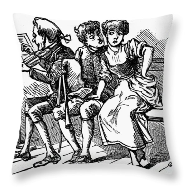 Mother Goose: Piper Throw Pillow by Granger