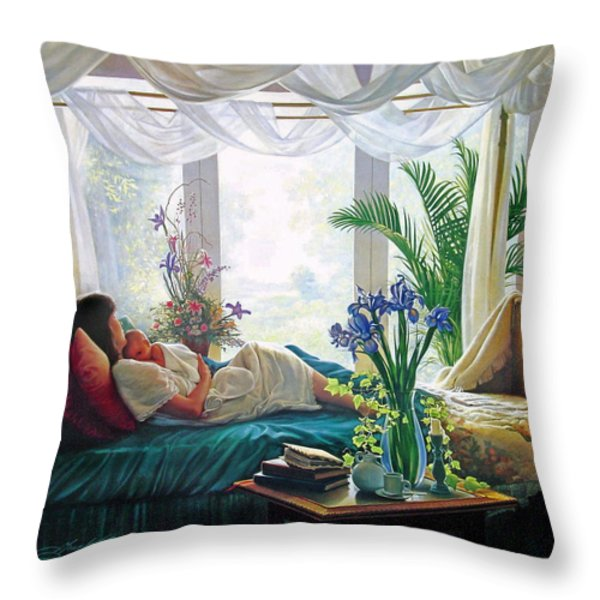 Mother's Love Throw Pillow by Greg Olsen