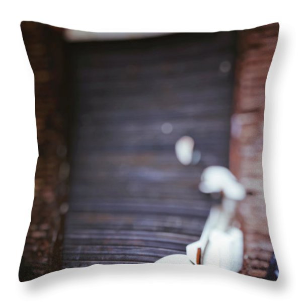 Motor Scooter Throw Pillow by Joana Kruse