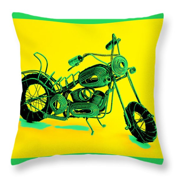 Motorbike 1b Throw Pillow by Mauro Celotti