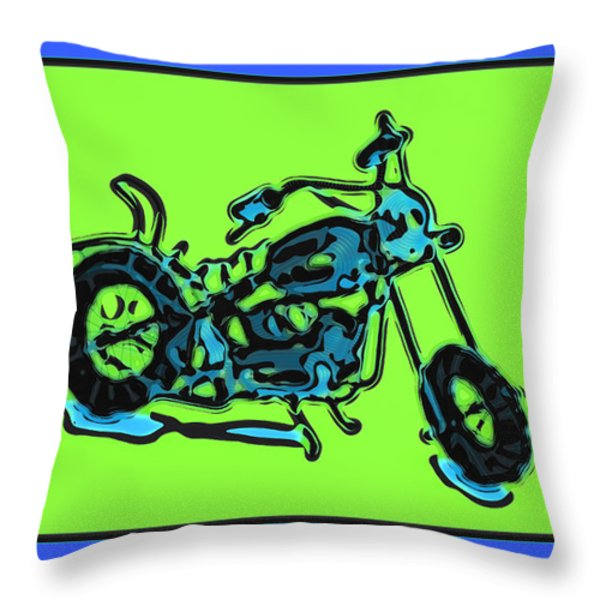 MotorBike 1c Throw Pillow by Mauro Celotti