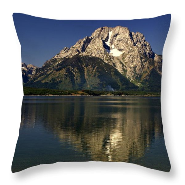 Moujnt Moran 5 Throw Pillow by Marty Koch