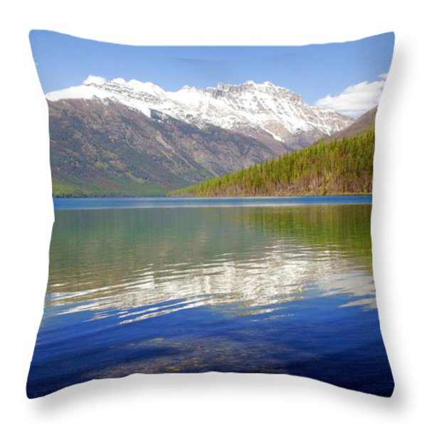 Mountain Lake 4 Throw Pillow by Marty Koch