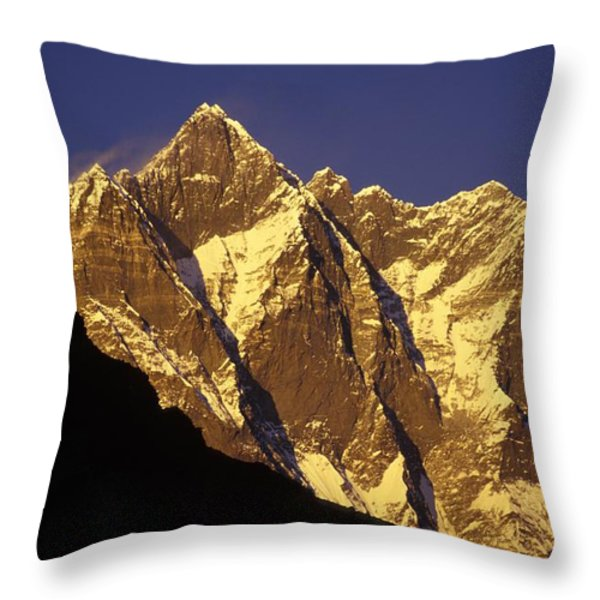 Mountain Peaks Throw Pillow by Sean White