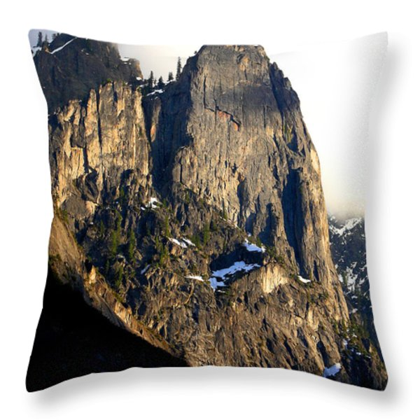 Mountains Of Yosemite . 7d6167 . Vertical Cut Throw Pillow by Wingsdomain Art and Photography