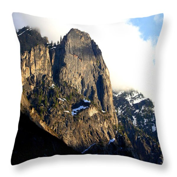 Mountains Of Yosemite . 7d6167 Throw Pillow by Wingsdomain Art and Photography