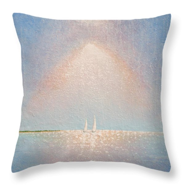 Moving With Spirit Throw Pillow by Jaison Cianelli