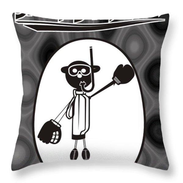 Mr. Jock Throw Pillow by Maria Watt