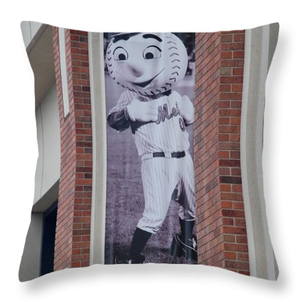 MR MET Throw Pillow by ROB HANS