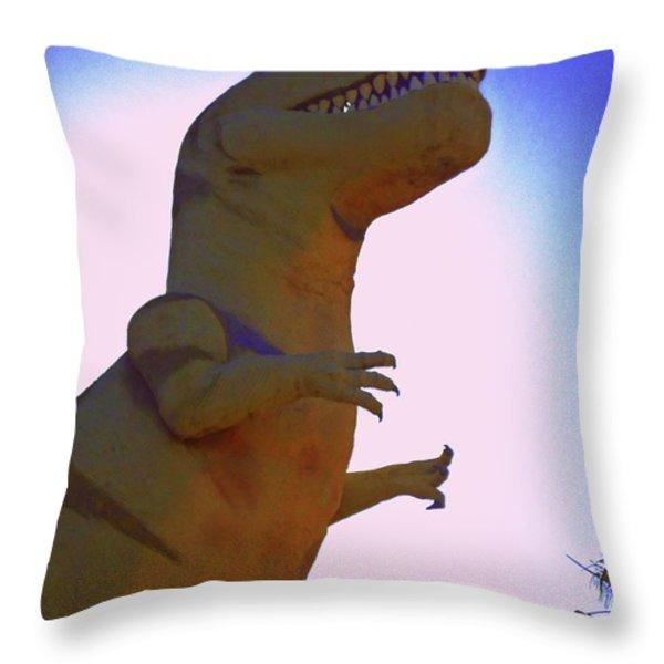 Mr. Rex 1 Throw Pillow by Randall Weidner