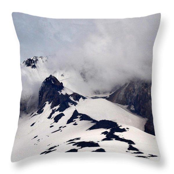 Mt. Hood Throw Pillow by Matt Hanson