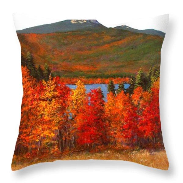 Mt.Chocorua Throw Pillow by Jack Skinner