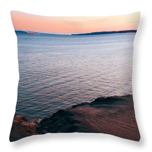 Mud Blushing Throw Pillow by Ron Day